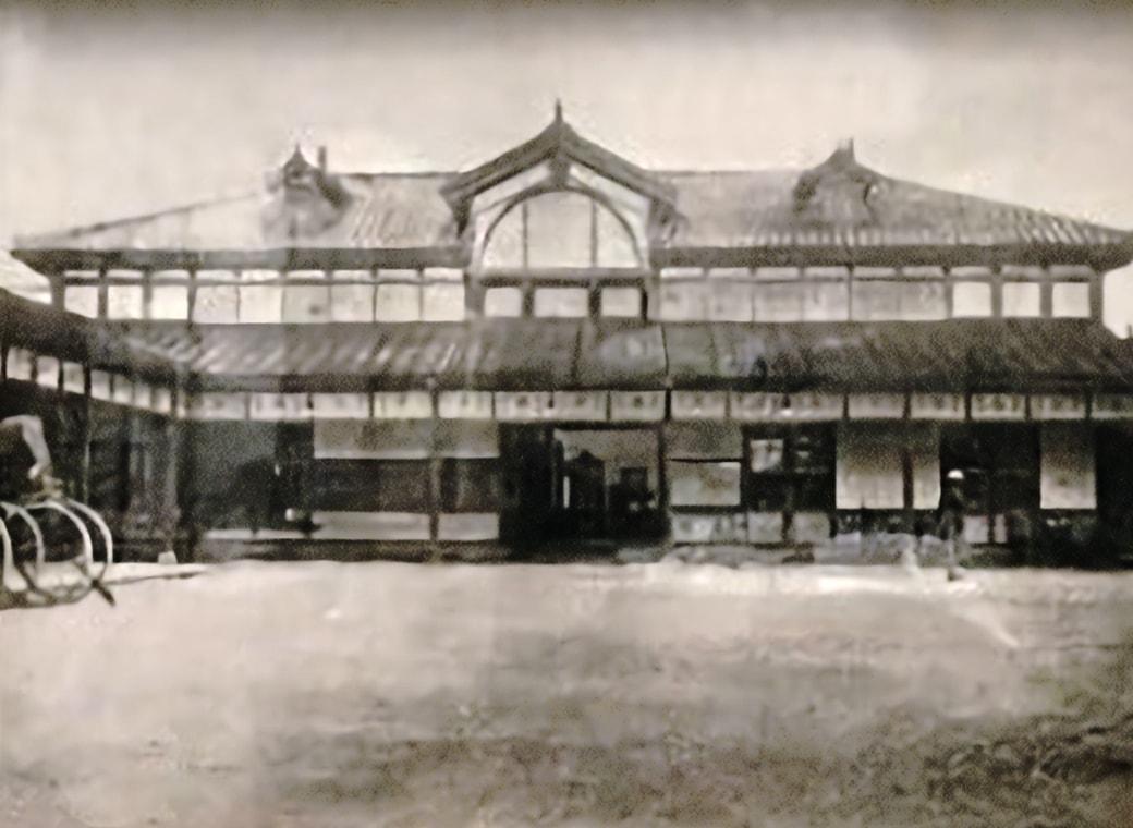 1913年(大正2年)鹿児島停車場新築工事