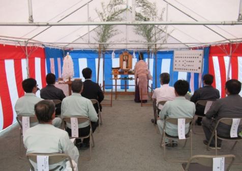 小川防災センター安全祈願祭